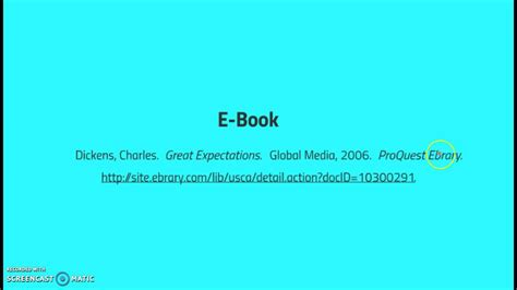 ebook format library mla citation ebook youtube