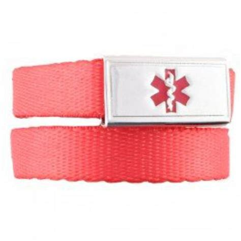 #1638 Red Small Slider Medical ID Sports Band   Medical ID Store