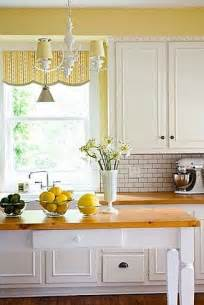 Yellow Kitchens With White Cabinets by Pinterest