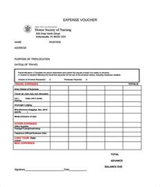 sle expense voucher template 7 free documents in pdf
