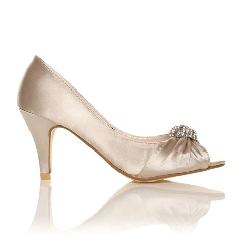 Ivory Bridal Sandals by Ivory White Satin Low Heel Bridal Prom