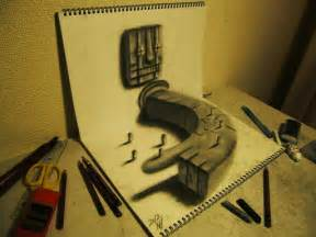 3d Drawing 3d illusion sketchbook drawings by nagai hideyuki colossal