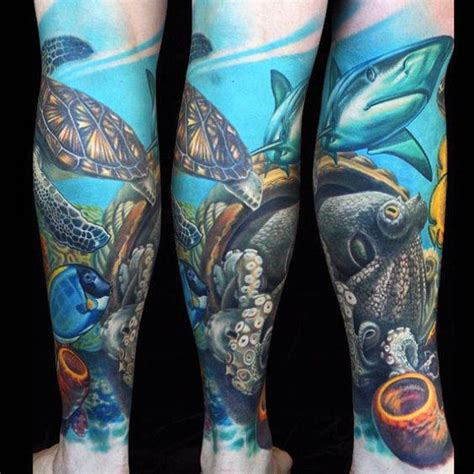 underwater sleeve tattoo designs 50 coral reef designs for aquatic ink mastery