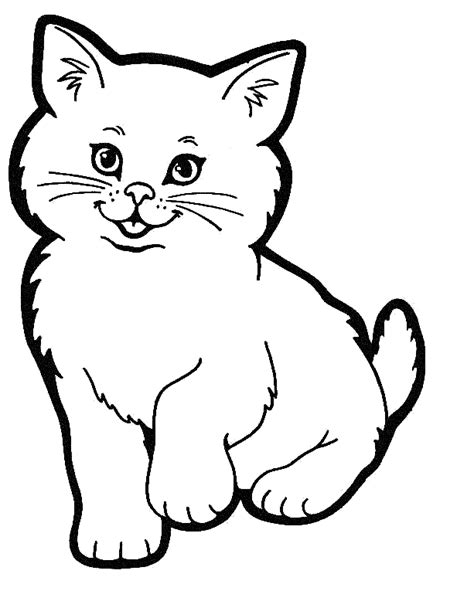 cat coloring page animals town free cat color sheet