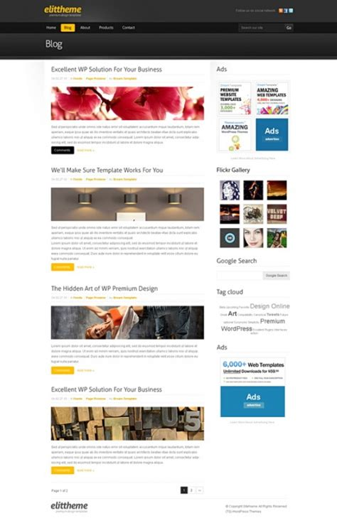 Blackboard Html Template Blog Style Website Templates Templatesold Com Blackboard Website Templates