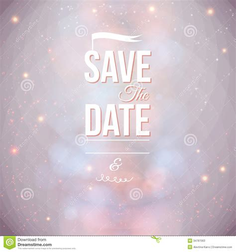 save the date for personal holiday stock illustration