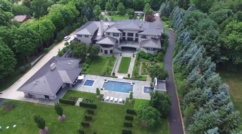 this footage from a drone flying lebron s house