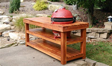 Outdoor Wood Table With Built In Grill Storage Forever Patio Table With Built In Grill