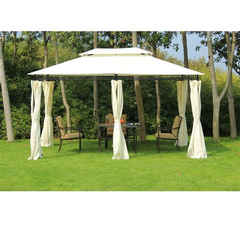 Garden Tents by Foxhunter 3m X 4m X 2 6m Garden Pavilion Gazebo Shelter