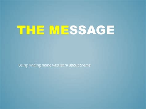 theme messages list teaching theme with finding nemo