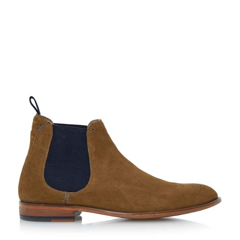 house of fraser oliver sweeney shoes oliver sweeney silsden brogue toe chelsea boots in brown for men tan lyst