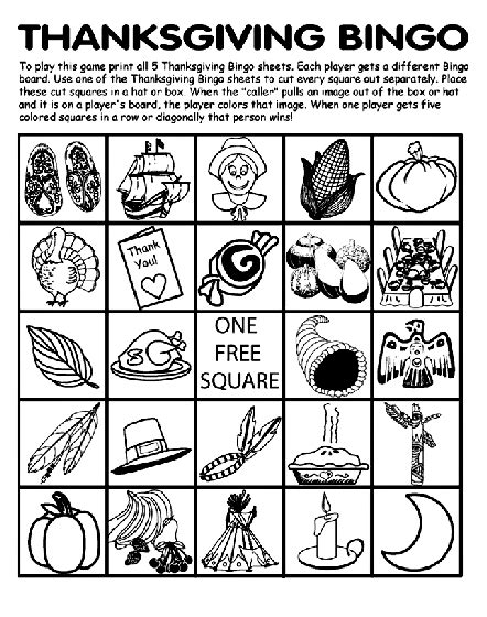 free printable thanksgiving picture bingo cards 7 thanksgiving printables to entertain the kids table
