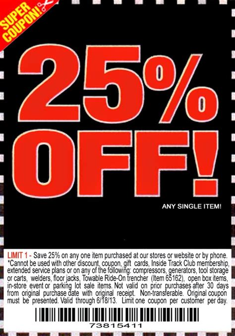 harbor freight coupons 20 off printable free printable coupons harbor freight coupons