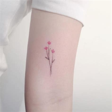 tattoo minimalist color 15 tiny flower tattoos every girl should see gurl com