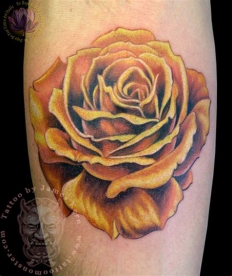 famous rose tattoos realistic yellow kern the best