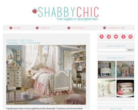 Shabby Chic Blogger Template Cute Websites And Website Templates Pinterest Silver Shabby Chic Website Templates