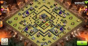 Clash of clans th9 vs th9 hog rider clan war 3 star attack clash
