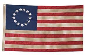 Antiqued betsy ross flags carrot top