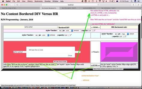tutorial html div html div versus hr contenteditable tutorial robert james