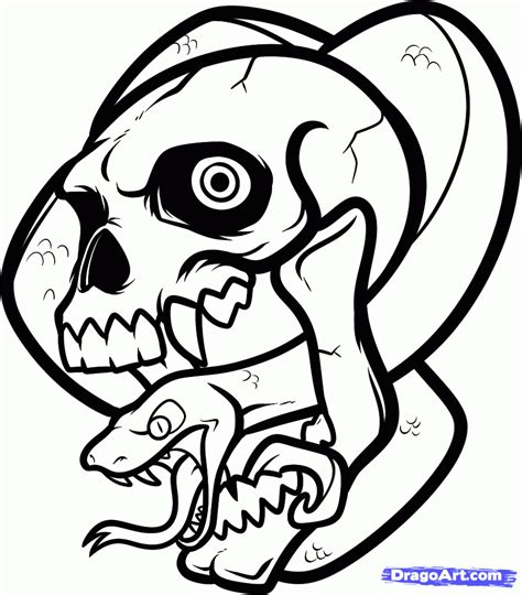 how to draw a skull and snake skull and snake tattoo