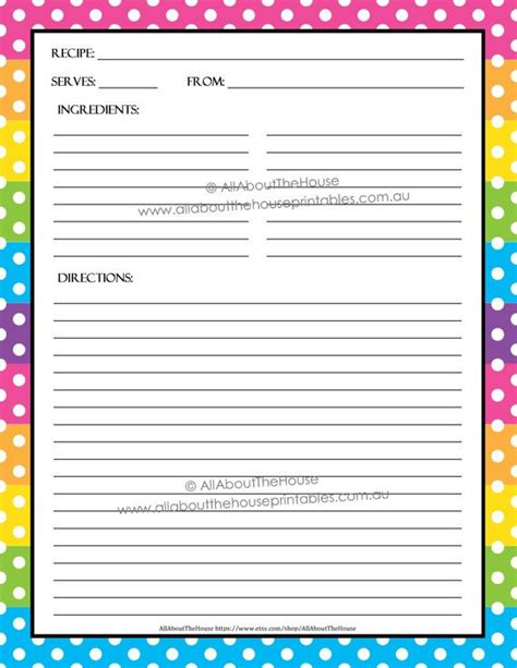 Recipe Card Template Pdf by Editable Printable Recipe Card Template Pdf Sheet