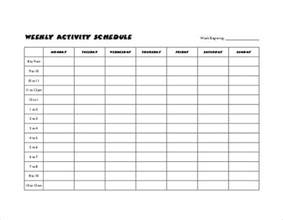 sample weekly schedule template 35 documents in psd
