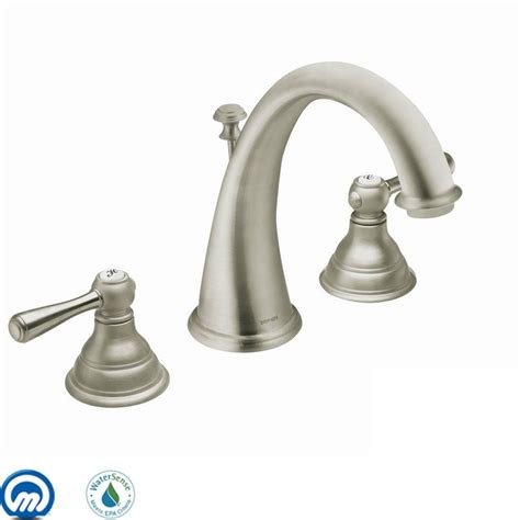 moen brushed nickel bathroom faucet click to view larger image