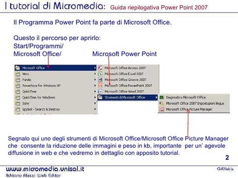 tutorial slideshow powerpoint 2007 powerpoint 2007 tutorial di gieffebis per comporre subito pps