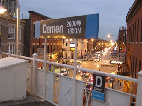 blue station damen cta blue line station
