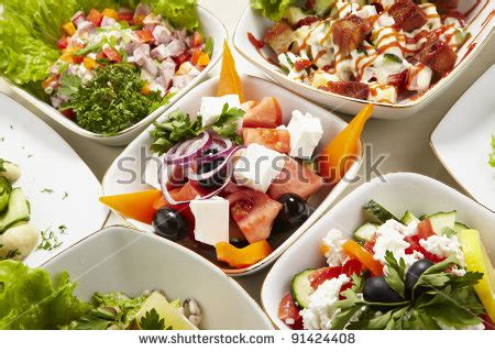 vegetables types of salaad royalty free stock photos and images different types of vegetable and seafood salads