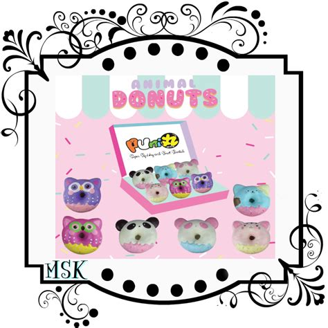 Squishy Cafe Animal Donut Cafe Animal Donut puni maru animal jumbo donut squishy mesokawaii squishy kawaii store