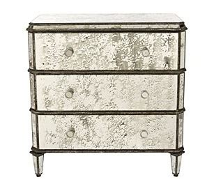 Antiqued Mirrored Nightstand by Antiqued Mirror Stand Home Sweet Apartment