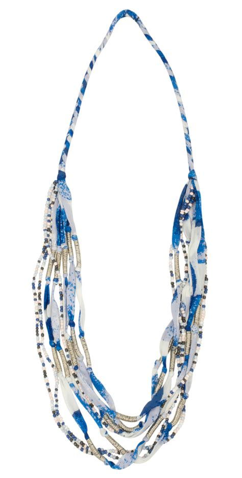 Beaded Multi Chain Necklace sandwich clothing beaded multi chain necklace in almost black