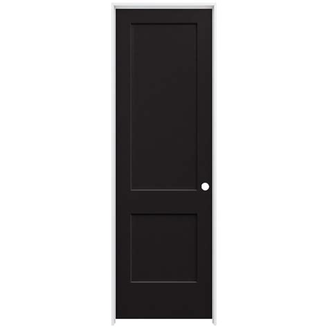 jeld wen 32 in x 96 in smooth 2 panel black solid
