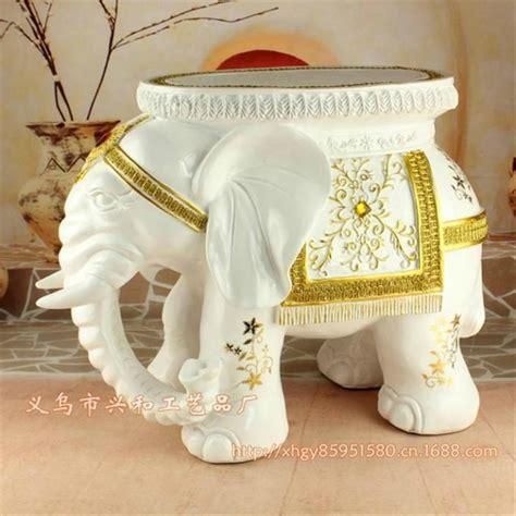 home decorators elephant her resin elephant stool white color home decor resin elephant