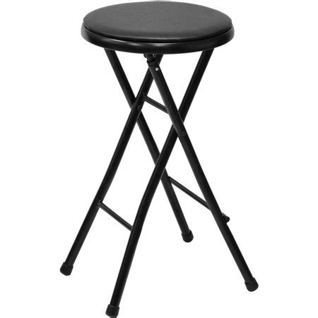 Mainstays Folding Metal Stool by Mainstays 29 Quot Cushioned Folding Stool Black Finish