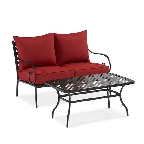 garden treasures patio furniture garden treasures yorkford 2 patio conversation set