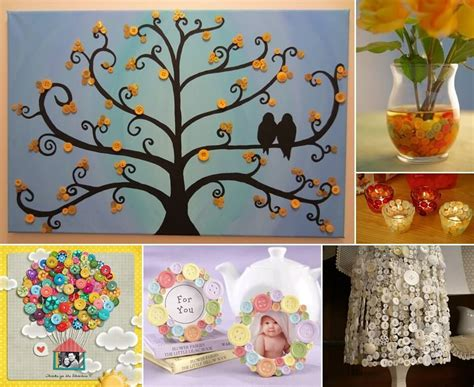 diy crafts for home decor button tree crafts 10 button crafts for your home decor