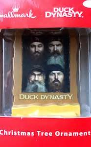 duck dynasty bearded men christmas tree ornament