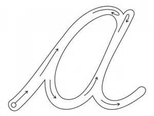 vocal a para pintar letra a para colorear cursiva imagui