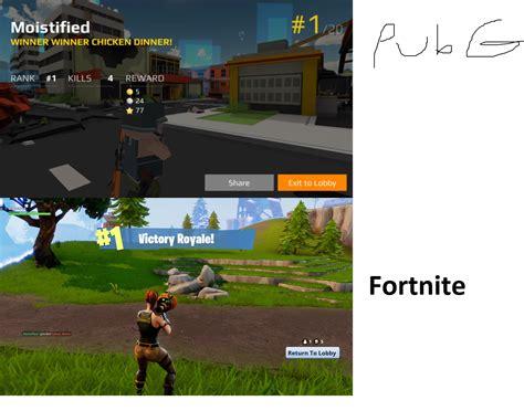 fortnite vs pubg meme proof fortnite looks much better than pubg fortnitebr