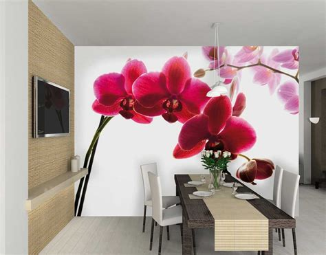 1wall pink orchid wall mural