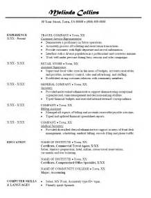 Travel Officer Sle Resume by Resume Sles Travel Consultant Resume
