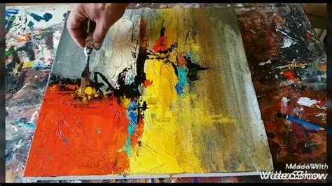 acrylic painting abstract demo acrylic abstract painting demonstration palette knife