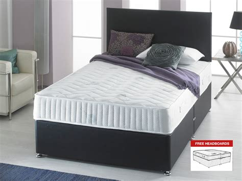 zip bed giltedge beds visco bonnell 5ft kingsize zip link divan bed