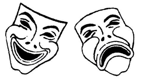 greek theatre masks clipart best