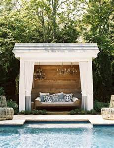daybeds patio furniture home decor homes: pool cabana with chandeliers transitional pool