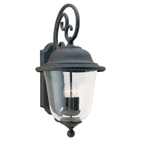 Outdoor Wrought Iron Lighting with Sea Gull Lighting 8461 Oxidized Bronze Wrought Iron 3 Light Outdoor Wall Sconces Ebay