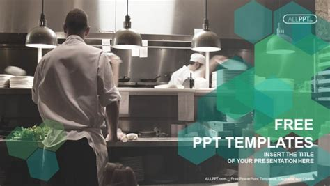 templates powerpoint restaurant free green concept powerpoint templates design