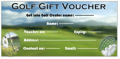 Golf Gift Card Template by 11 Free Gift Voucher Templates Microsoft Word Templates